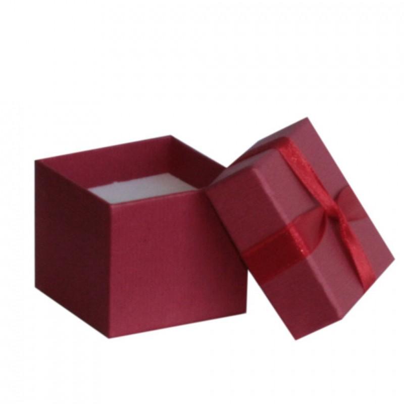 Jolie petite boîte rouge en forme de cœur pour fèves saint-valentin