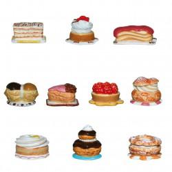 Petites pâtisseries - Série complète de 10 fèves brillantes - Année 2014