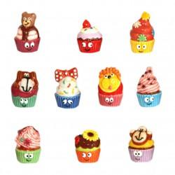 Cup cakes - Série complète de 10 fèves brillantes - Année 2014