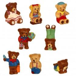 P'tit ours - Série complète de 10 fèves mates - Année 2013