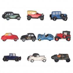 Peugeot les lionnes - Série complète de 10 fèves brillantes - Année 2014