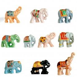 La marche des éléphants - Série complète de 10 fèves or, brillantes - Année 2015