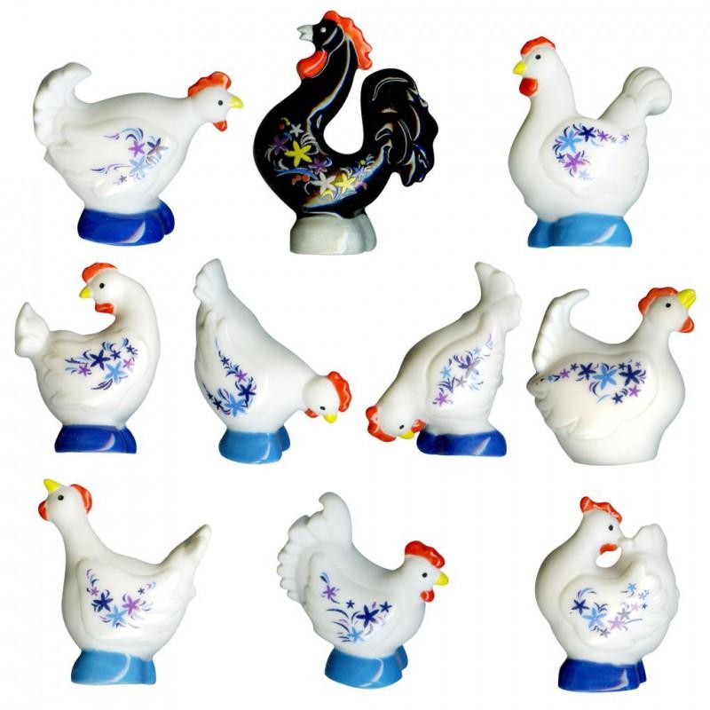 Un coq, des poules
