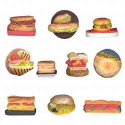 Sandwich au menu - Série complète de 10 fèves mates - Année 2013
