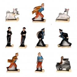 Les aventures de Tintin - Série complète de 10 fèves or/brillantes - Année 2013