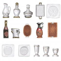 L'art de la table - Série complète de 15 fèves or/platine brillantes - Année 2013