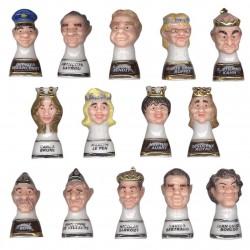 L'échiquier politique - Série complète de 14 fèves brillantes - Année 2011