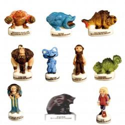 Chasseurs de dragon - Série complète de 10 fèves brillantes - Année 2010