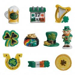 Saint Patrick - Série complète de 10 fèves or/platine, brillantes - Année 2017