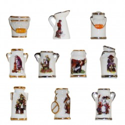 La laitière et le pot au lait - Série complète de 10 fèves or/platine, brillantes - Année 2009