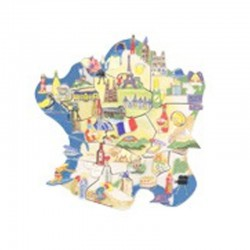 Puzzle des régions de France - Série complète de 12 fèves brillantes - Année 2009