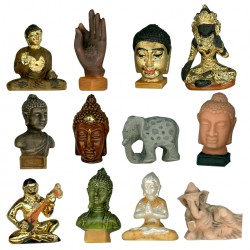 Déco zen - Série complète de 10 fèves or/Mates - Année 2012