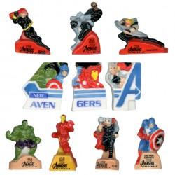 Série de fèves New Avengers Marvel - Série complète de 10 fèves Brillantes - Année 2013