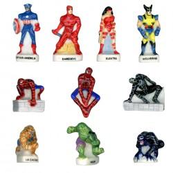 Les Marvels - Série complète de 10 fèves Brillantes - Année 2009