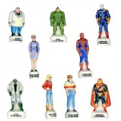Spiderman - Série complète de 10 fèves Brillantes - Année 1995