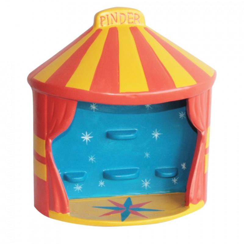 Tous en piste avec ce joli présentoir pour fèves du cirque Pinder !