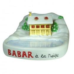 Présentoir Babar à la neige en porcelaine - Pour collection de fèves