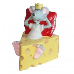 Tirelire souris - Grand sujet Porcelaine mate peinte à la main