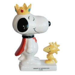 Snoopy et Woodstock - Grand sujet Porcelaine brillante peinte à la main