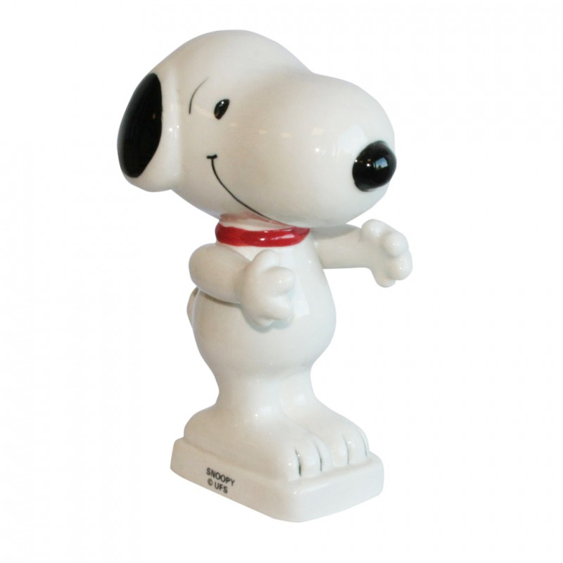 Snoopy - Grand sujet Porcelaine brillante peinte à la main