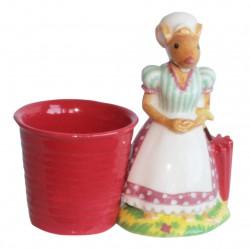 Gobelet souricette - Grand sujet Porcelaine brillante peinte à la main