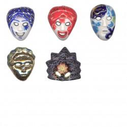 Carnaval de Venise - Série complète de 5 fèves brillantes - Année 2004