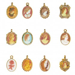 Les Camées - Série complète de 12 fèves or, nacrées - Année 2006