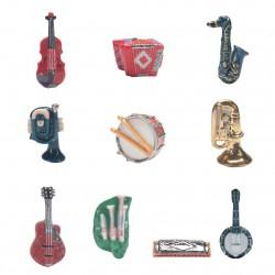 Instruments de musique - Série 10 fèves or, platines, brillantes, 2008