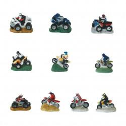 Quad et motocross - Série complète de 10 fèves mates - Année 2006
