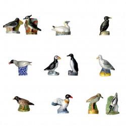Les ailes du littoral - Série complète de 12 fèves brillantes - Année 2006