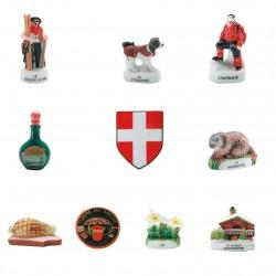 La Savoie - Série complète de 10 fèves brillantes - Année 2007