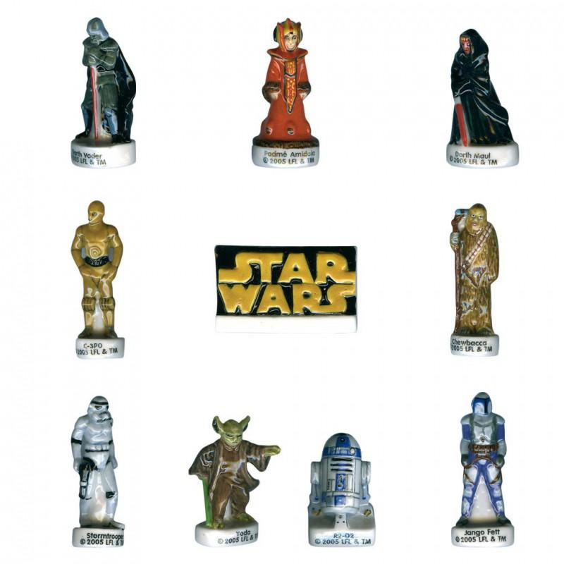 Star Wars - Série complète de 10 fèves brillantes - Année 2005
