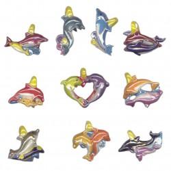 Dauphin mon ami - Série complète de 10 fèves brillantes, nacrées - Année 2006